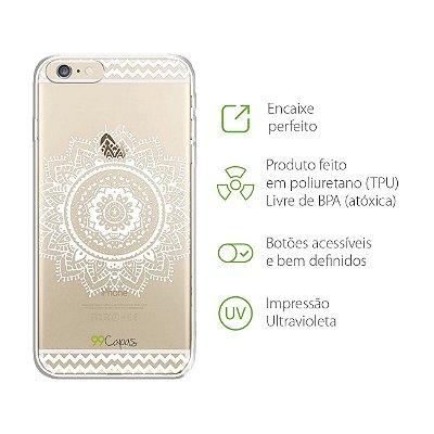 Capa para iPhone 6 Plus/6S Plus - Mandala Branca