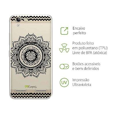 Capa para Lenovo Vibe K5 - Mandala Preta