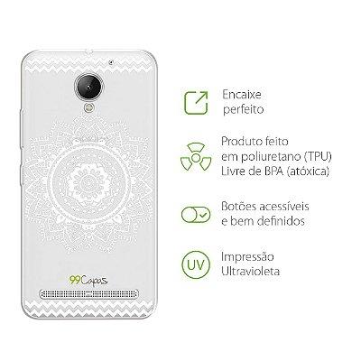Capa para Lenovo Vibe C2 - Mandala Branca