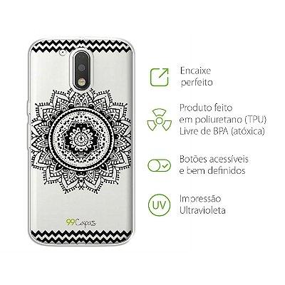 Capa para Moto G4 - Mandala Preta