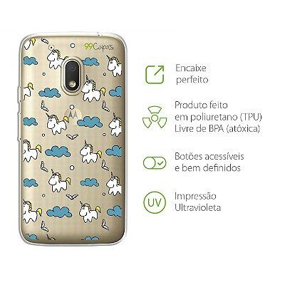 Capa para Moto G4 Play - Unicórnio