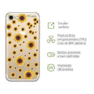 Capa para iPhone 7 - Girassóis