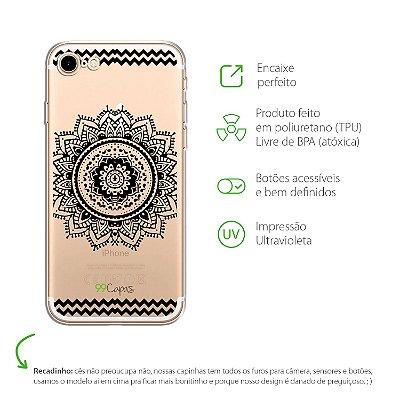 Capa para iPhone 7 - Mandala Preta