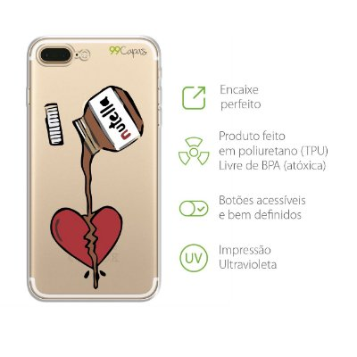 Capa para iPhone 7 Plus - Nutella