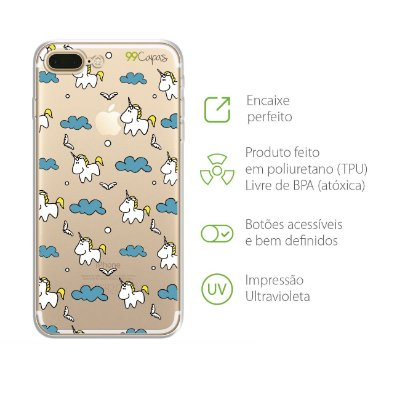 Capa para iPhone 7 Plus - Unicórnio