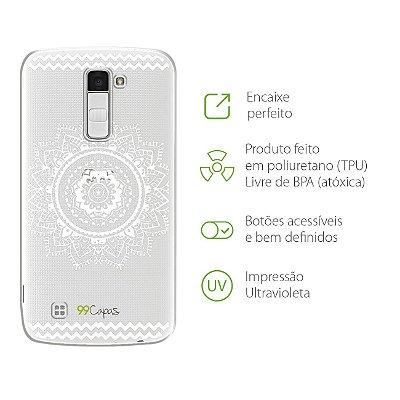 Capa para LG K10 2016 - Mandala Branca