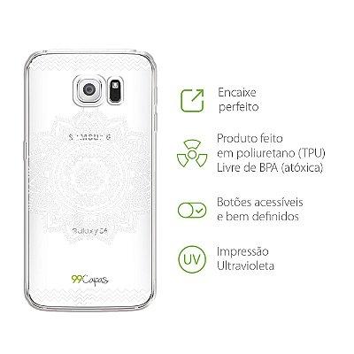 Capa para Galaxy S6 - Mandala Branca
