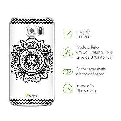 Capa para Galaxy S6 - Mandala Preta