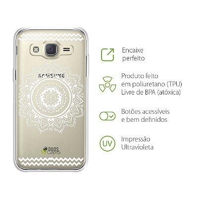 Capa para Galaxy J3 - Mandala Branca