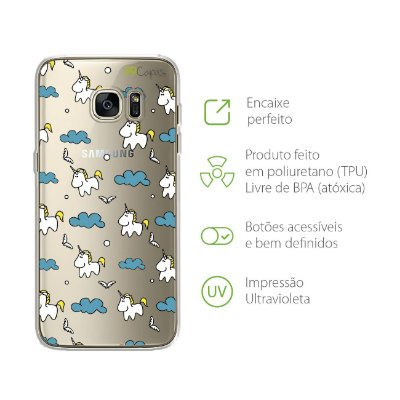 Capa para Galaxy S7 - Unicórnio