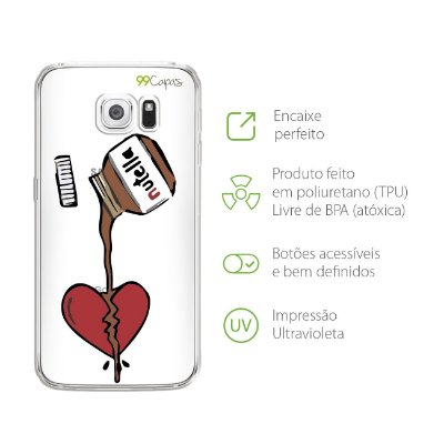 Capa para Galaxy S6 Edge - Nutella