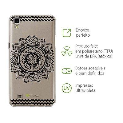 Capa para LG X Power - Mandala Preta