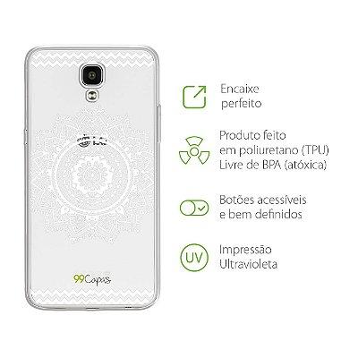 Capa para LG X Screen - Mandala Branca