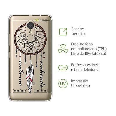 Capa para Lenovo Vibe K6 Plus - Continue Sonhando