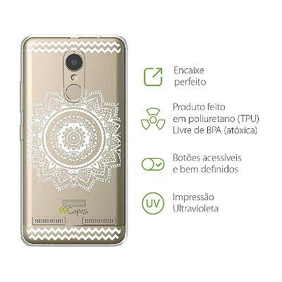 Capa para Lenovo K6 - Mandala Branca