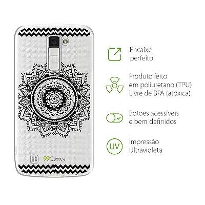 Capa para LG K8 - Mandala Preta