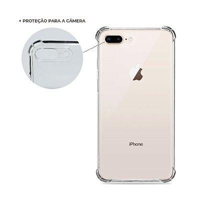 Capa Anti-Shock Transparente para iPhone 7 Plus (com proteção para câmera)