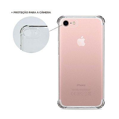 Capa Anti-Shock Transparente para iPhone 7 (com proteção para câmera)