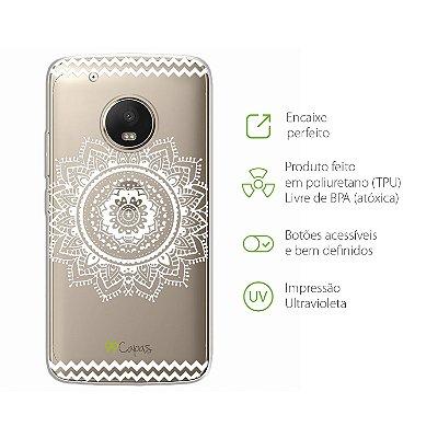 Capa para Moto G5 Plus - Mandala Branca