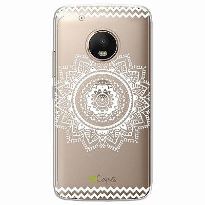 Capa para Moto G5 - Mandala Branca