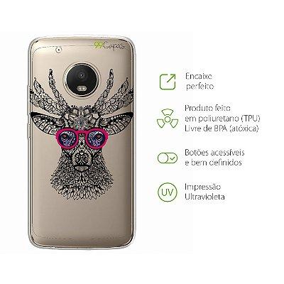 Capa para Moto G5 Plus - Alce Hipster