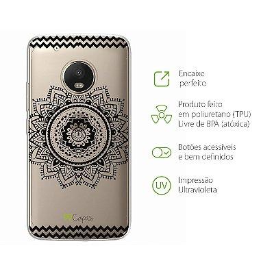 Capa para Moto G5 Plus - Mandala Preta