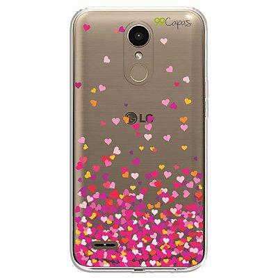 Capa para LG K10 2017 - Corações Rosa