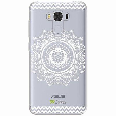 Capa para Asus Zenfone 3 Max - 5.5 Polegadas - Mandala Branca