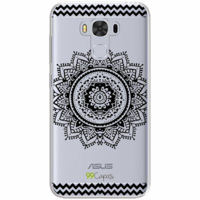 Capa para Asus Zenfone 3 Max - 5.5 Polegadas - Mandala Preta