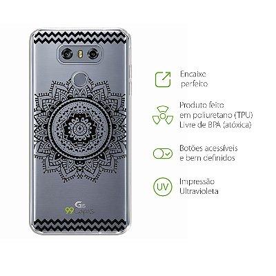 Capa para LG G6 - Mandala Preta