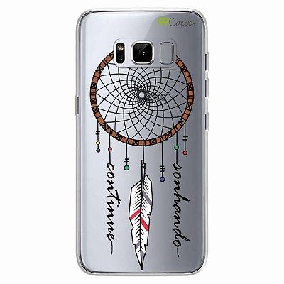 Capa para Galaxy S8 - Continue Sonhando