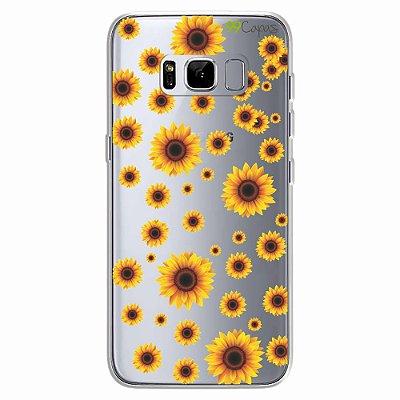 Capa para Galaxy S8 - Girassóis