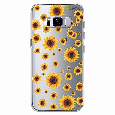 Capa para Galaxy S8 Plus - Girassóis