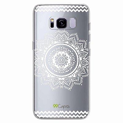 Capa para Galaxy S8 Plus - Mandala Branca