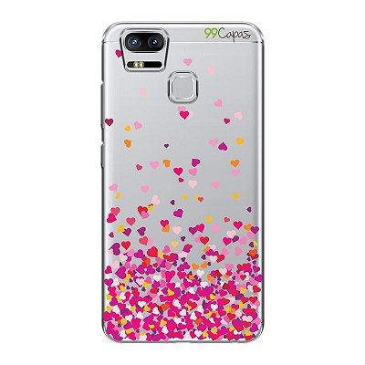 Capa para Asus Zenfone 3 Zoom - Corações Rosa
