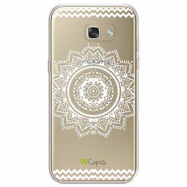 Capa para Galaxy A7 2017 - Mandala Branca