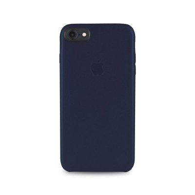 Capa Couro Azul iPhone 7