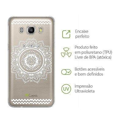 Capa para Galaxy J5 - Mandala Branca