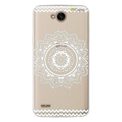 Capa para LG K10 Power - Mandala Branca