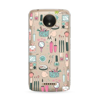 Capa Moto C Plus - Make Up