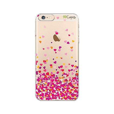 Capa  para iPhone 6/6S - Corações Rosa