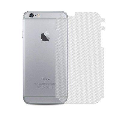 Película Traseira de Fibra de Carbono Transparente para iPhone 6/6s - 99capas