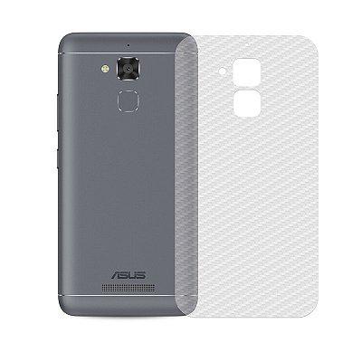 Película Traseira de Fibra de Carbono Transparente para Asus Zenfone 3 Max 5.2 - 99capas