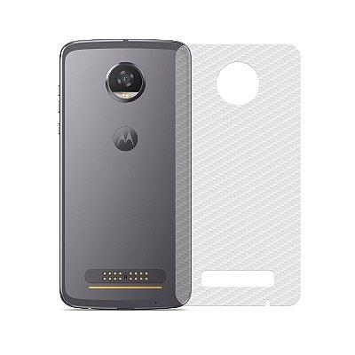Película Traseira de Fibra de Carbono Transparente para Motorola Moto Z2 Play - 99capas