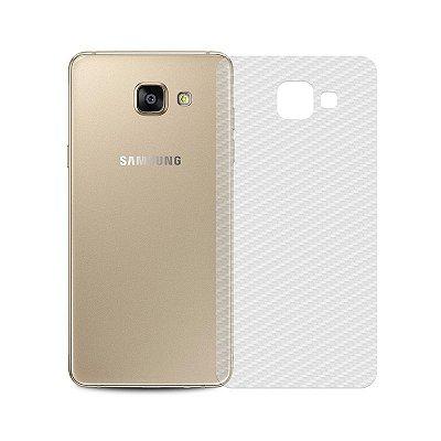 Película Traseira de Fibra de Carbono Transparente para Galaxy A7 2016 - 99capas