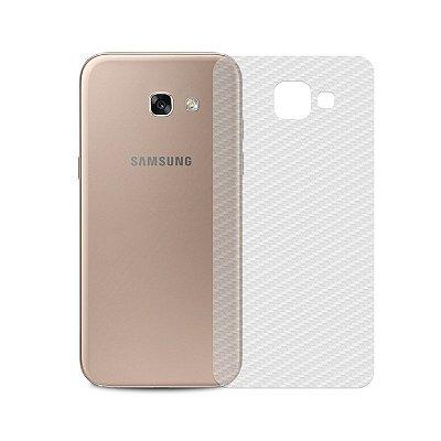 Película Traseira de Fibra de Carbono Transparente para Galaxy A7 2017 - 99capas