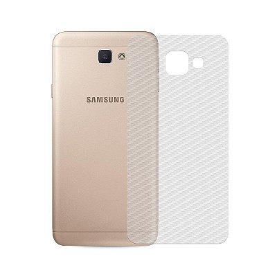 Película Traseira de Fibra de Carbono Transparente para Galaxy S6 Edge - 99capas