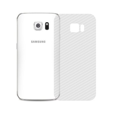 Película Traseira de Fibra de Carbono Transparente para Galaxy S6 Edge Plus - 99capas