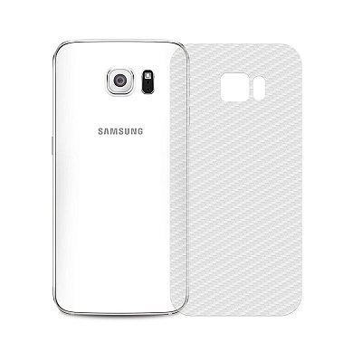 Película Traseira de Fibra de Carbono Transparente para Galaxy S6 - 99capas