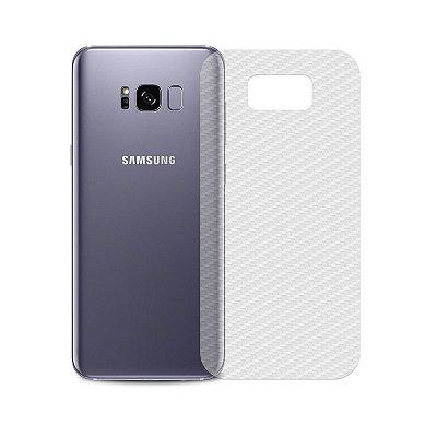 Película Traseira de Fibra de Carbono Transparente para Galaxy S8 - 99capas